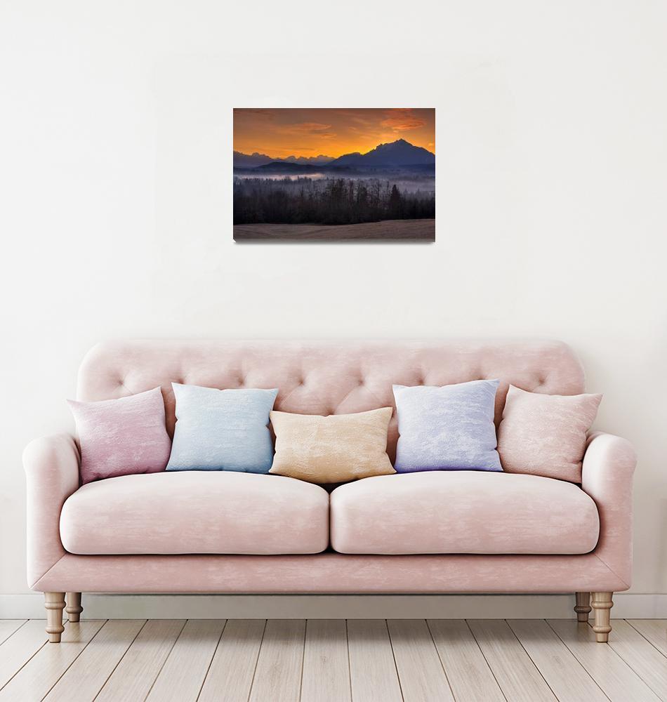 """Mt. Pilchuck Sunrise"" (2009) by JimDockery"