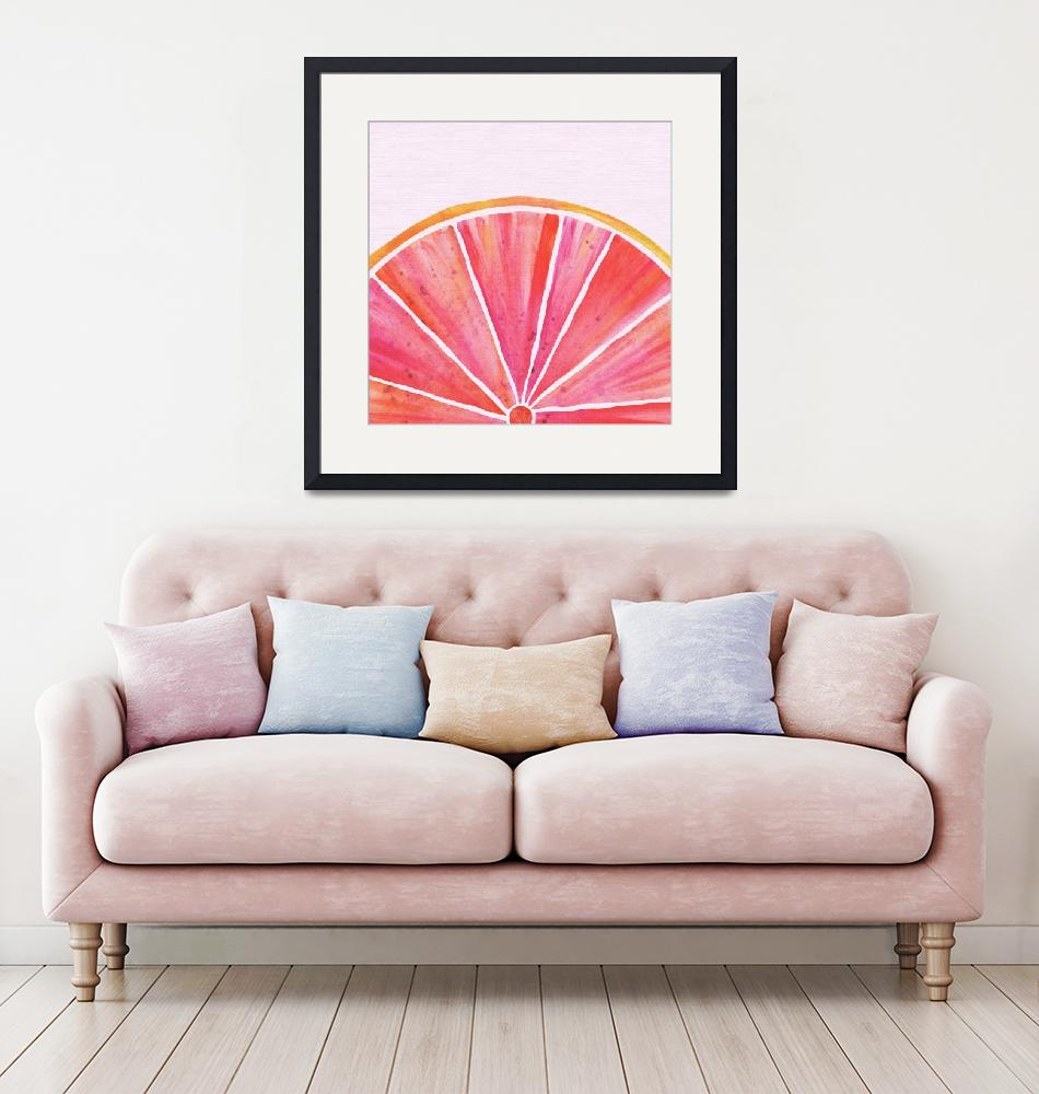 """Pink Grapefruit""  (2018) by moderntropical"