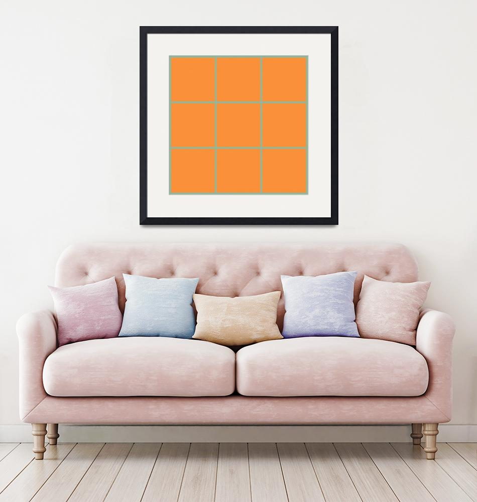 """Orange Window 098 Canvas Contemporary Modern""  (2010) by Ricardos"