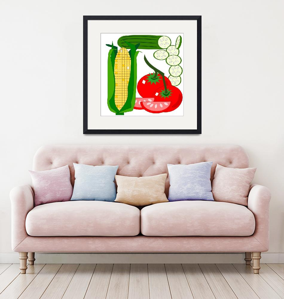"""""""Tomato, corn and cucumber""""  (2011) by debband"""