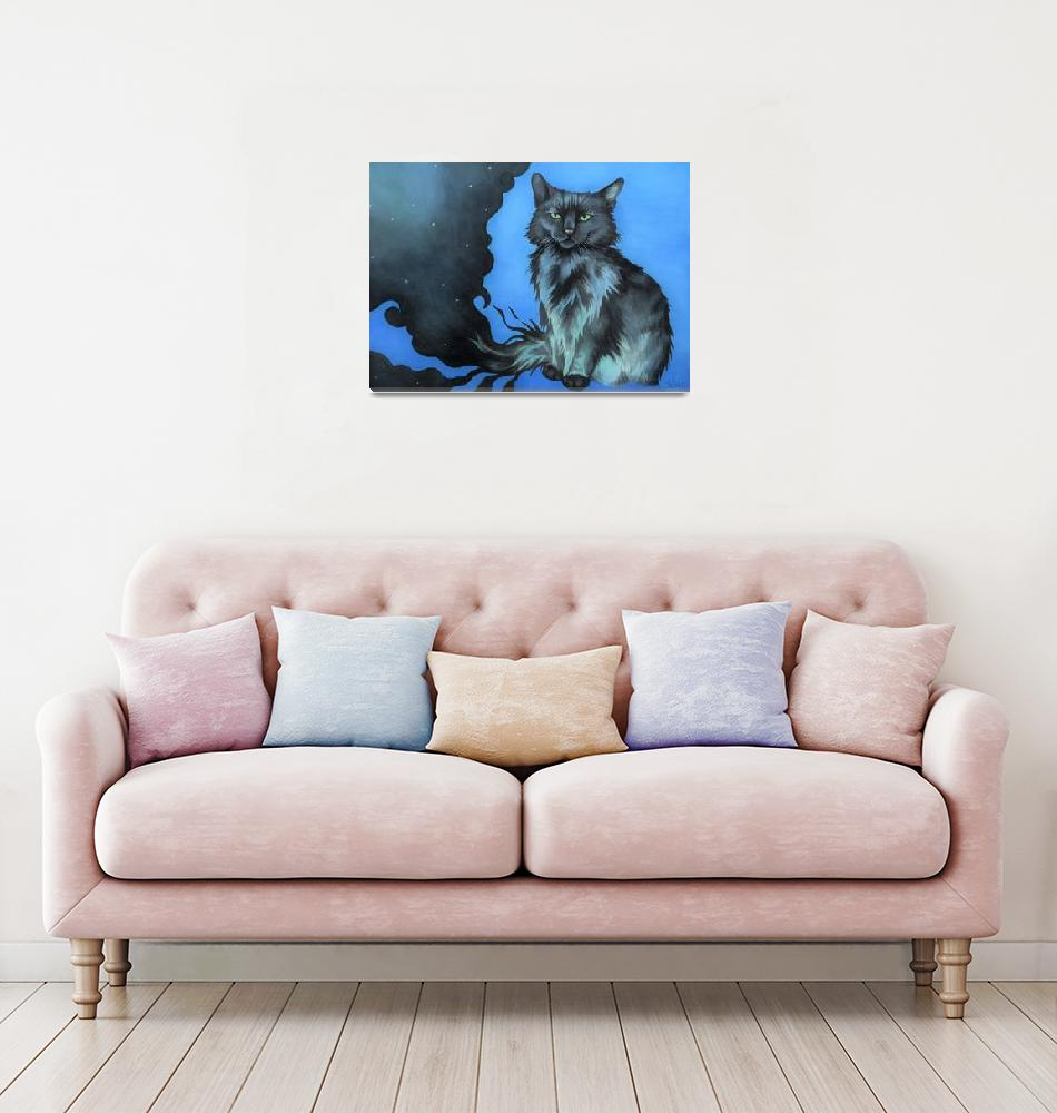 """""""The Shadow Cat in Blue""""  (2019) by unicorn-crossing"""