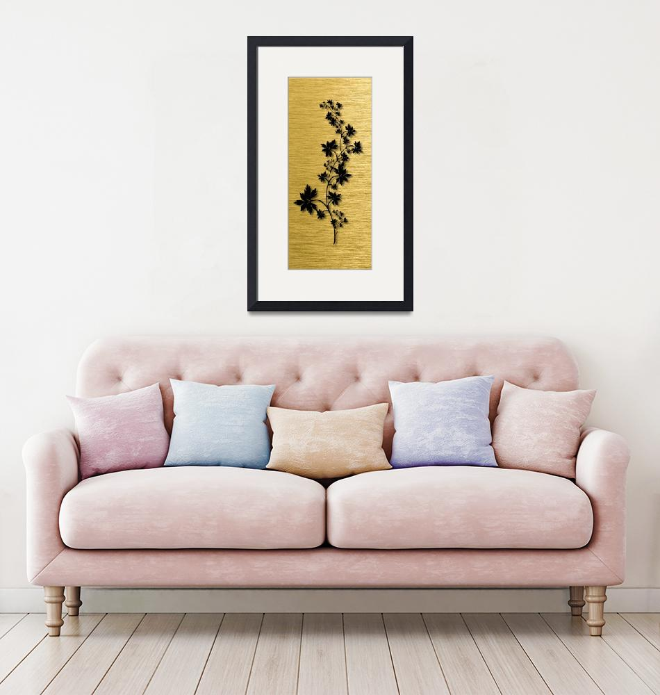 """""""Gold illustration for interior 3""""  (2019) by Radiant"""