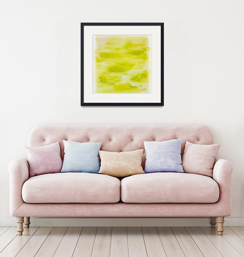 """Lime Green Abstract""  (2015) by jadeevalley"
