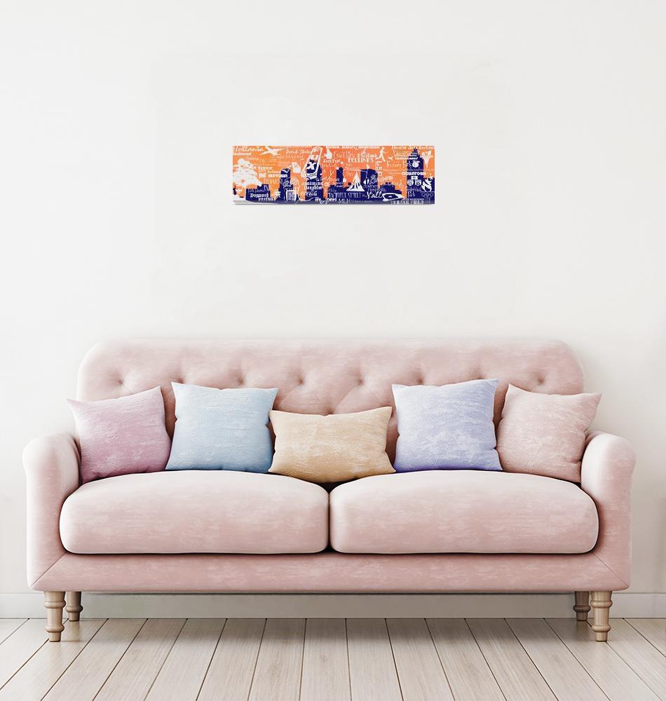 """Atlanta Icons - Peach""  (2009) by MelanieLingKitChang"