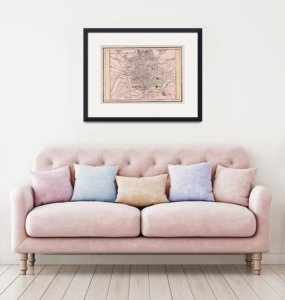 """Vintage Map of Athens Greece (1901)""  by Alleycatshirts"