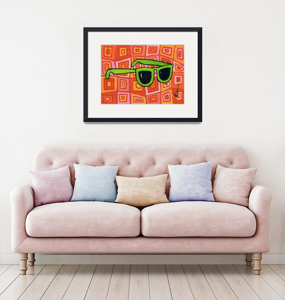 """""""Green Sunglasses""""  (2010) by JanetNelson"""