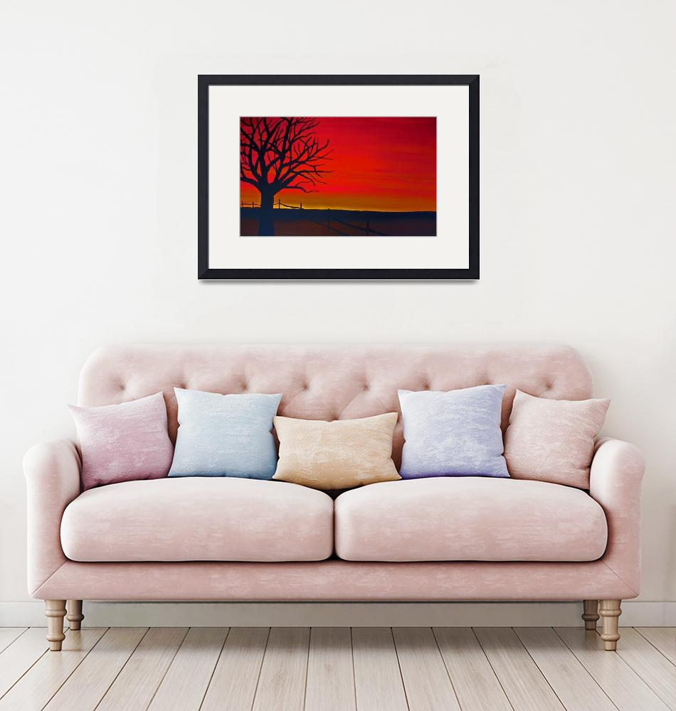 """""""red sky""""  (2011) by TCRAWFORD"""