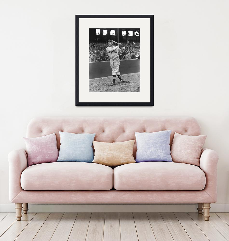 """""""Bobby Doerr warm up swing""""  by RetroImagesArchive"""