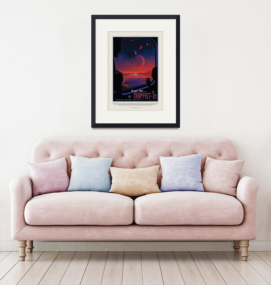 """""""NASA Trappist Travel Poster""""  by FineArtClassics"""