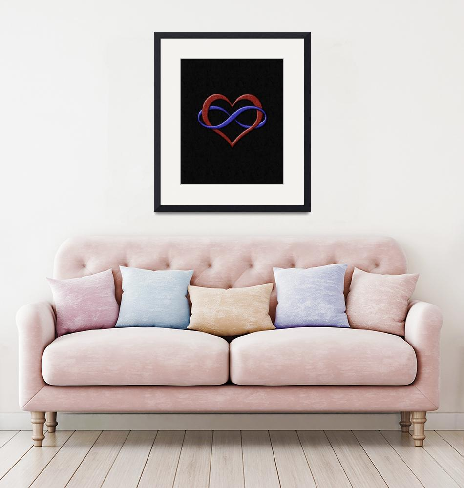 """""""Infinity Heart Symbol - Polyamory Pride Flag""""  by LiveLoudGraphics"""
