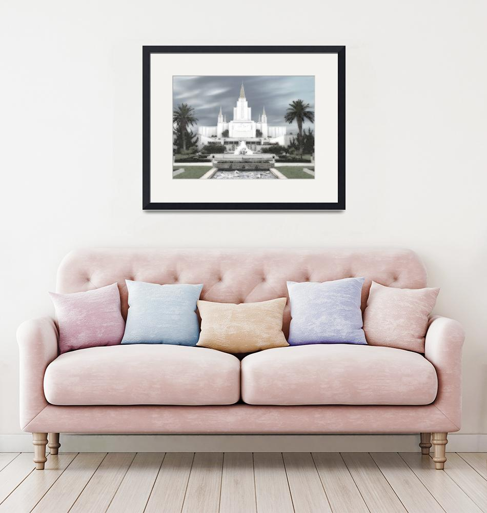 """""""Oakland Temple Large-16x22-tinted""""  by TerrySpringer"""
