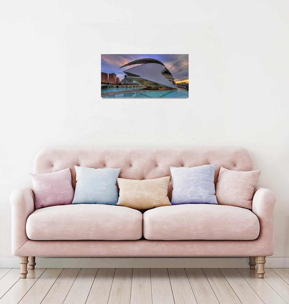 """Panorama of Palau de les Arts""  by SalvadordelSaz"