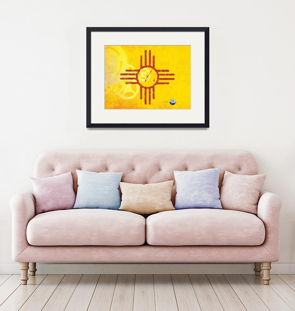 """""""New Mexico State Quarterama - Art 47""""  (2017) by statequarters"""