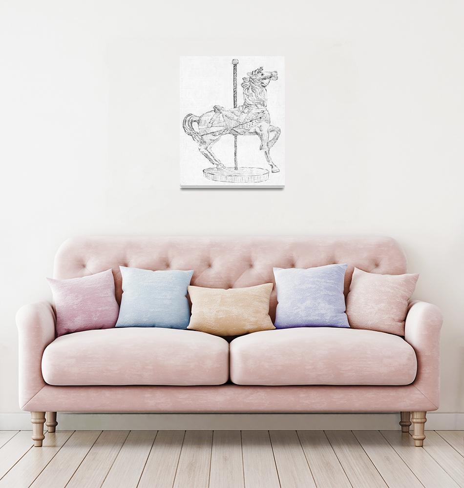 """Carousel Horse""  (1995) by Artpixie"