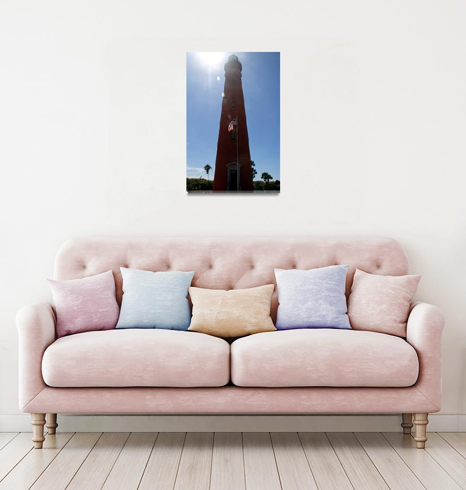 """""""Sun Shines on Ponce de Leon Inlet Lighthouse""""  (2016) by ValeriesGallery"""