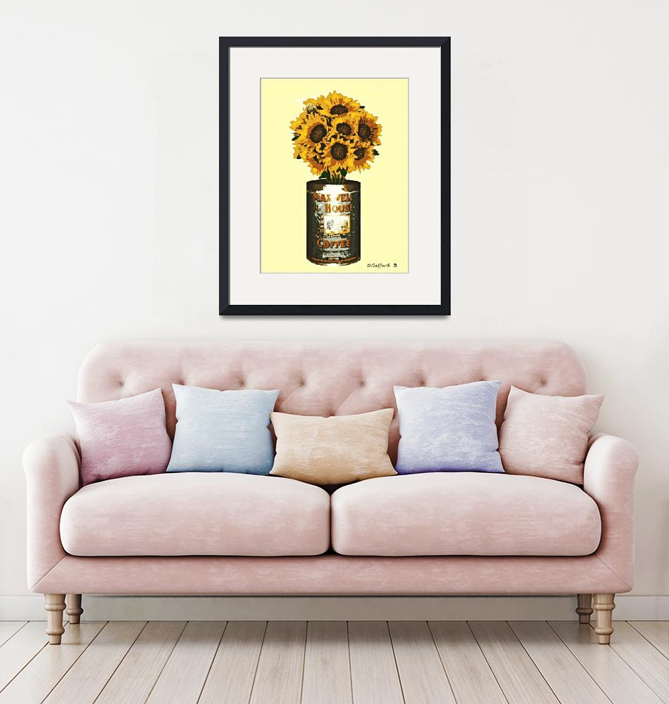 """""""Sunflowers in Coffee Can""""  (2014) by davegafford"""