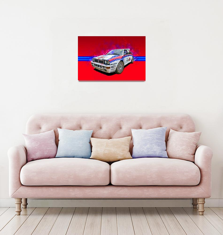"""Lancia Delta Integrale"" (2019) by StuartRow"
