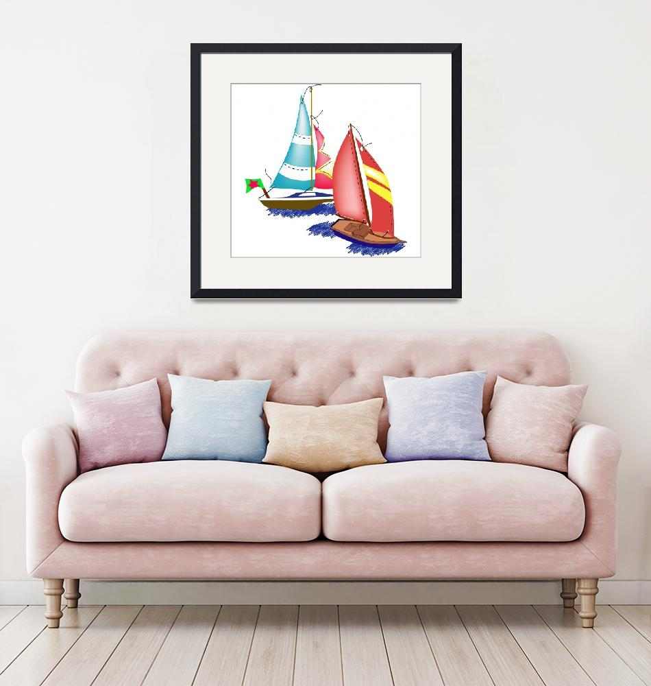 """""""Sailboats""""  by magicalview"""
