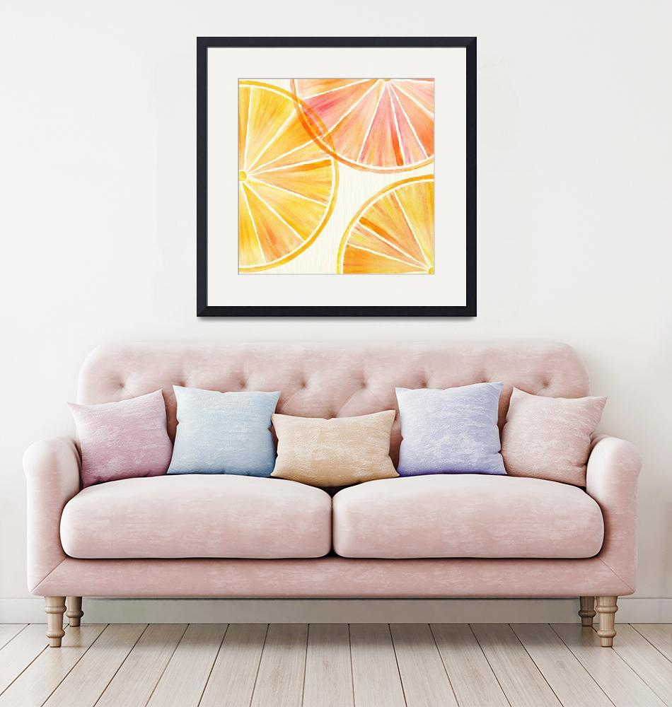 """Oranges and Lemons Watercolor""  (2018) by moderntropical"
