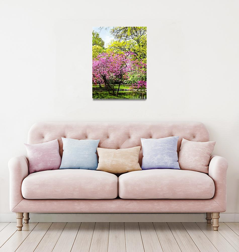 """Flowering Trees in the Park""  by susansartgallery"