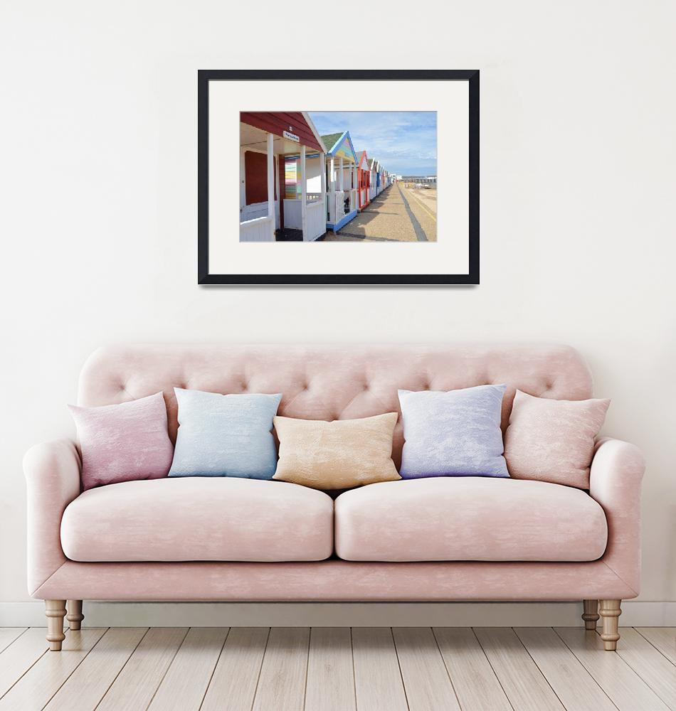"""""""Colorful English Beach Huts"""" (2014) by malcolmsnook"""