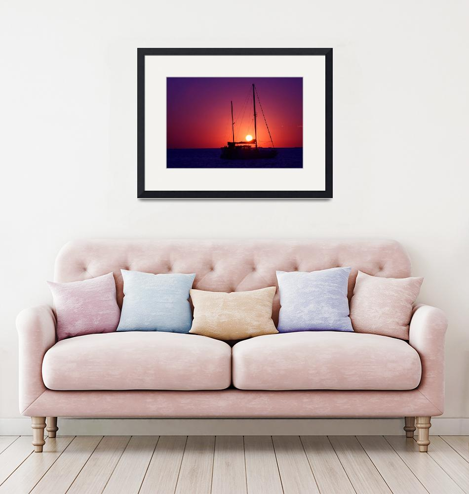 """""""Sunset Between Masts""""  (2011) by DonnaCorless"""