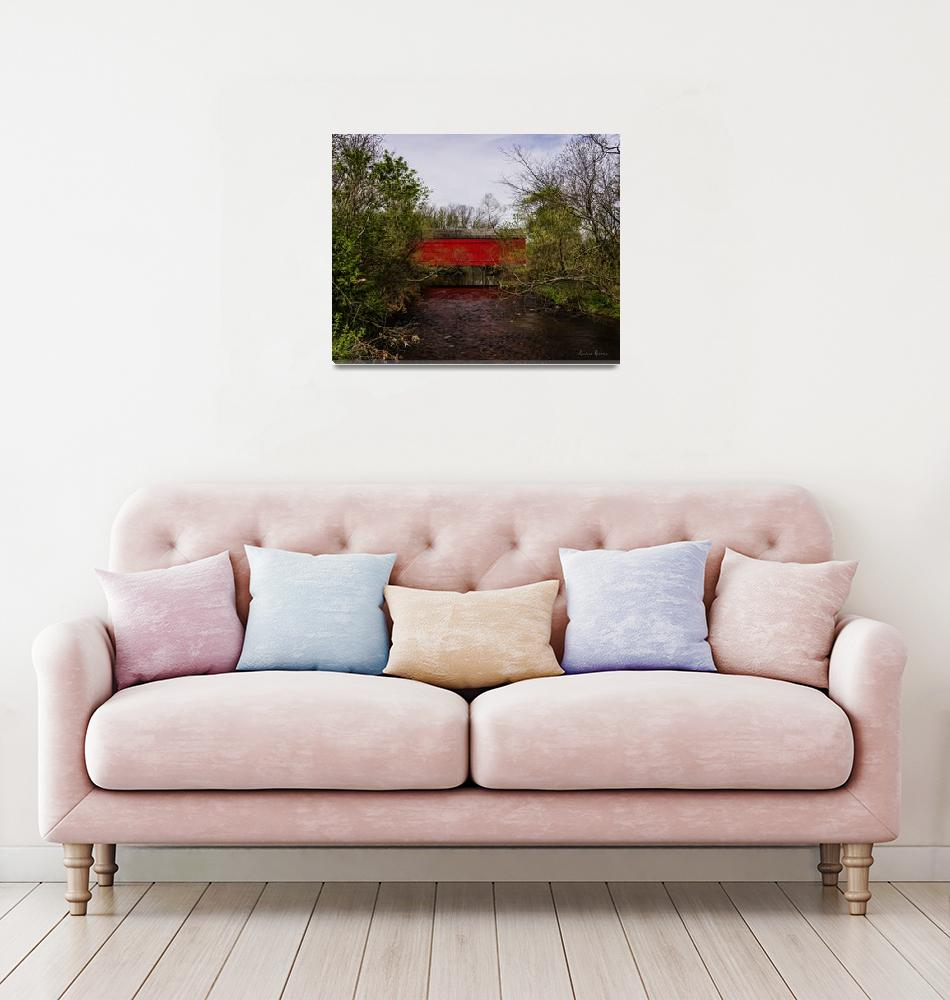 """""""Moods Covered Bridge""""  (2017) by LouiseReeves"""