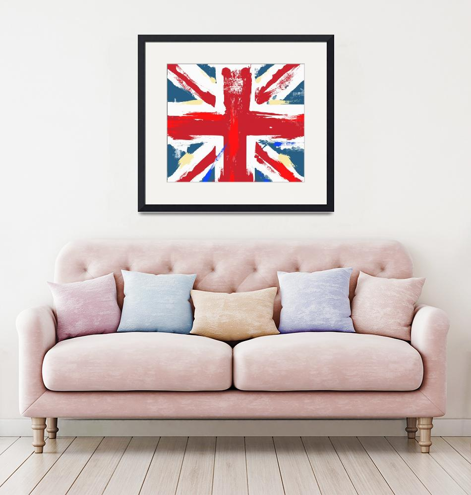 """worn Union Jack""  (2012) by vectorwebstore"