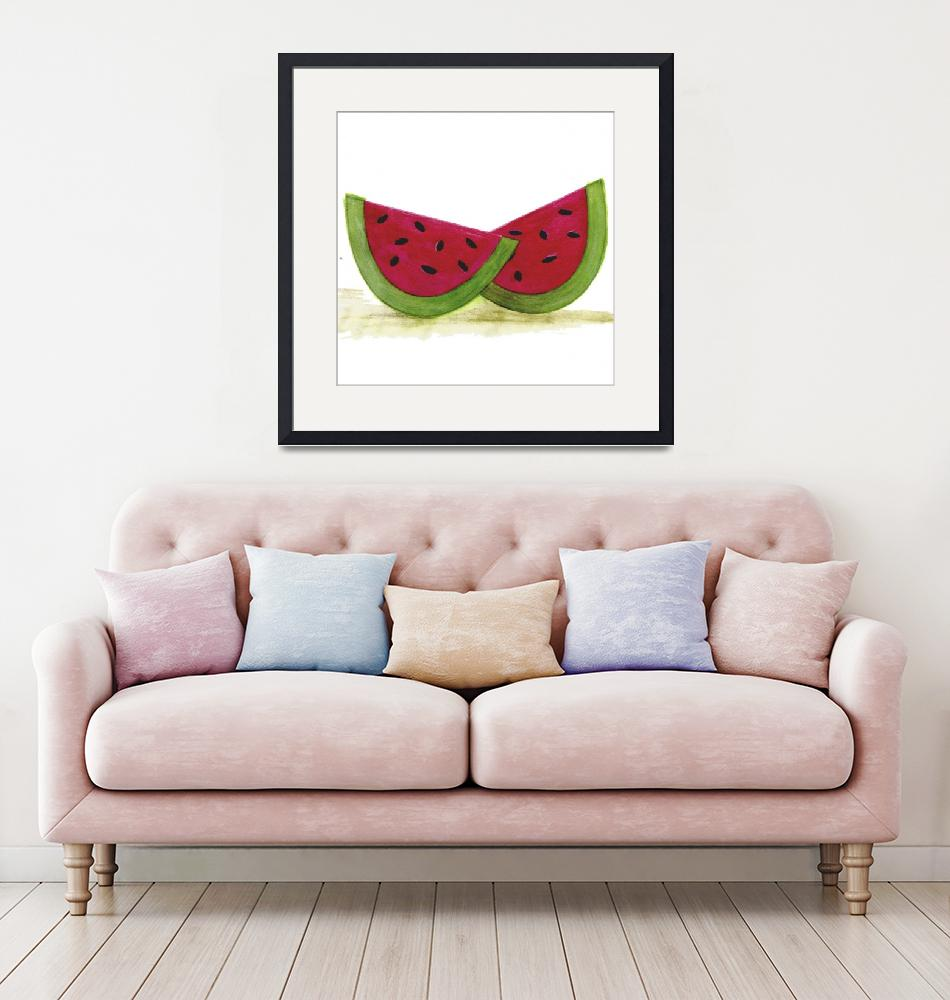 """""""Watermelon Slices""""  by artlicensing"""