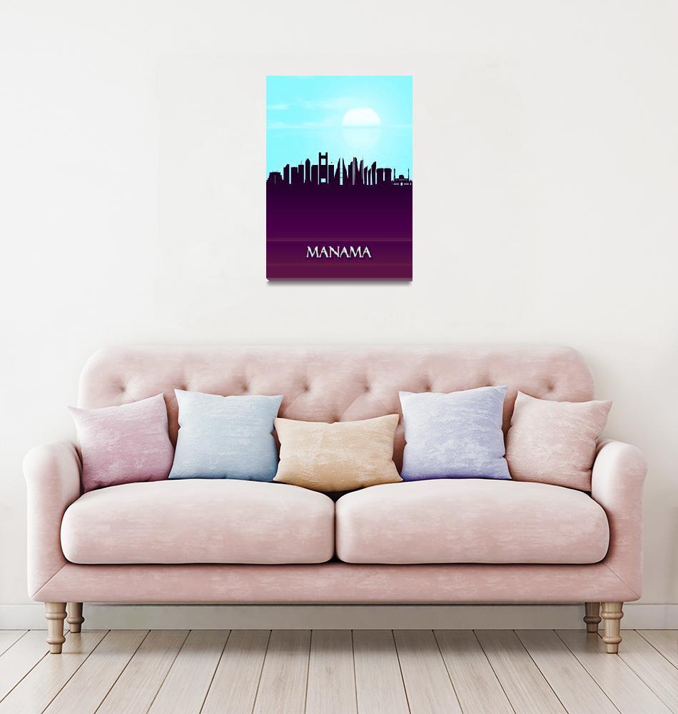 """Manama City Skyline""  by Towseef"