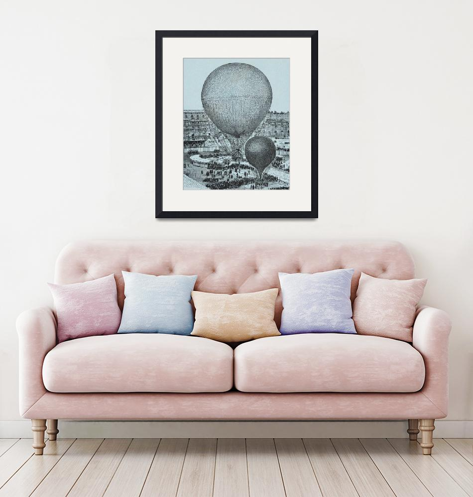 """Steam Balloon of the Tuileries Court by Gifford"" by FineArtClassics"