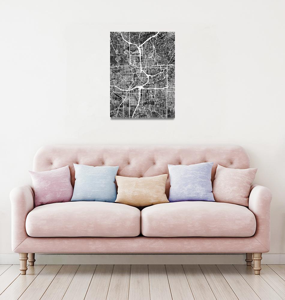 """Atlanta Georgia City Map""  (2016) by ModernArtPrints"