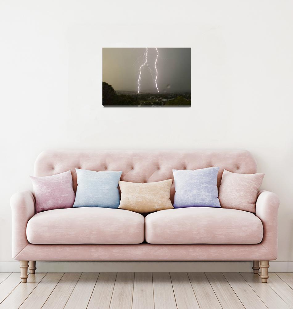 """Lightning Over Kyogle"" (2007) by lightning"