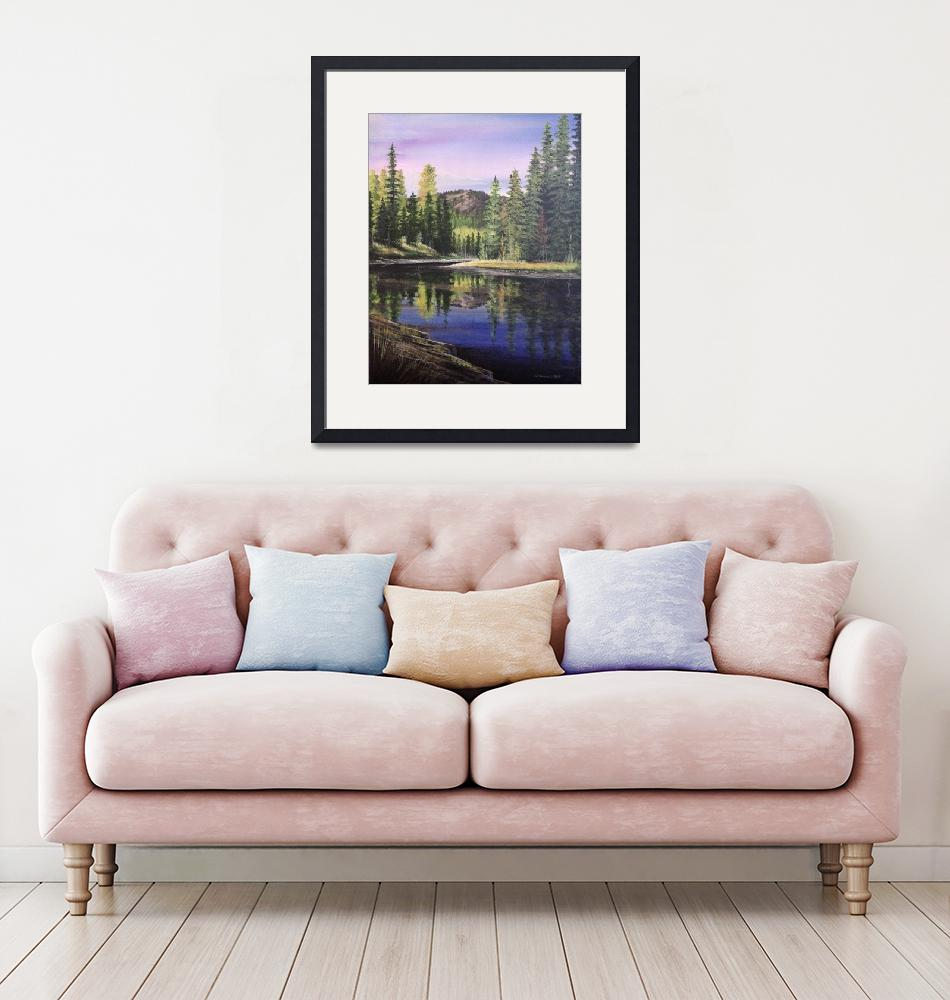 """""""Upper Payette Lake""""  (2018) by rsummers"""