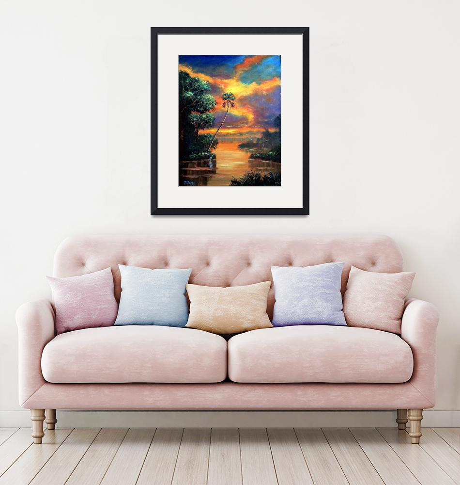 """""""Fire Sky over the River""""  (2006) by mazz"""