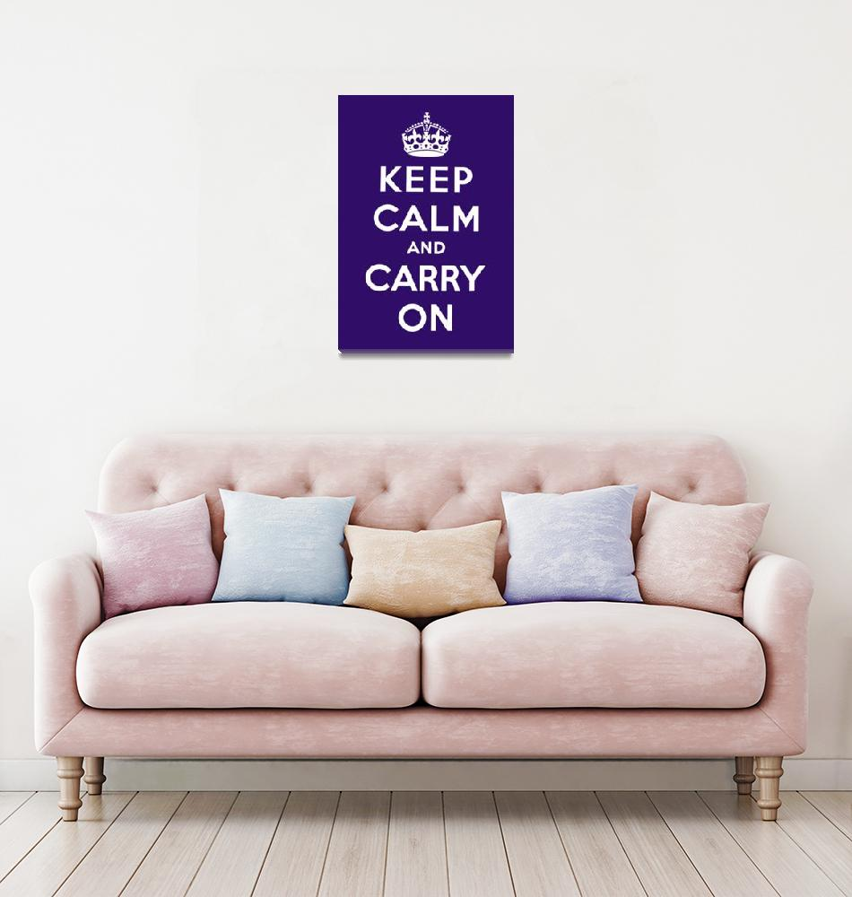 """Purple Keep Calm And Carry On""  by oldies"
