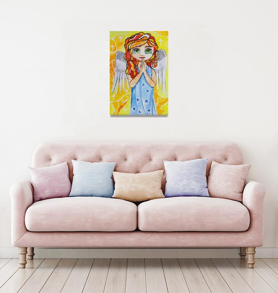 """""""BIG EYE ANGEL BLYTHE DOLL ART GORDON BRUCE ART""""  (2009) by GORDONBRUCEART"""