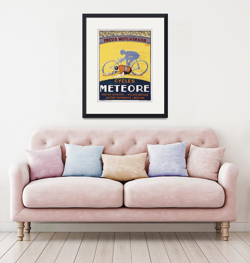 """""""Pneus Hutchinson Vintage Bicycle Poster""""  by FineArtClassics"""