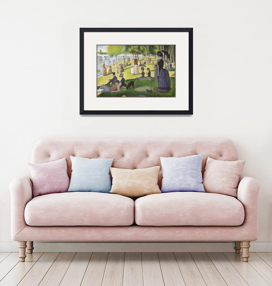 """A Sunday on La Grande Jatte by Georges Seurat""  by FineArtClassics"