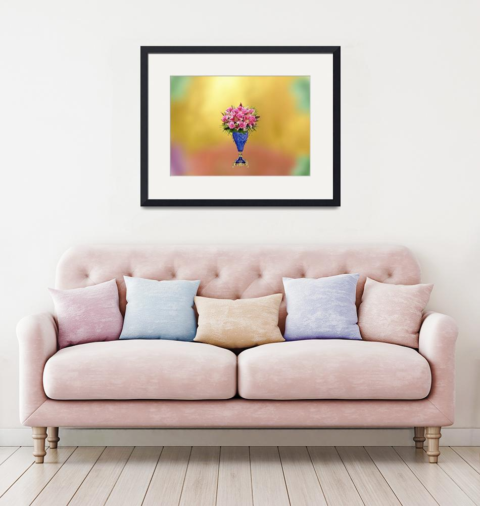 """""""Vase bouquet flower""""  (2019) by Radiant"""