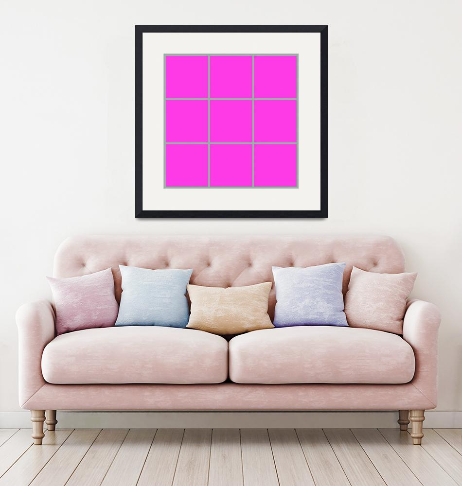 """Pink Window 178 Canvas Contemporary Modern""  (2010) by Ricardos"