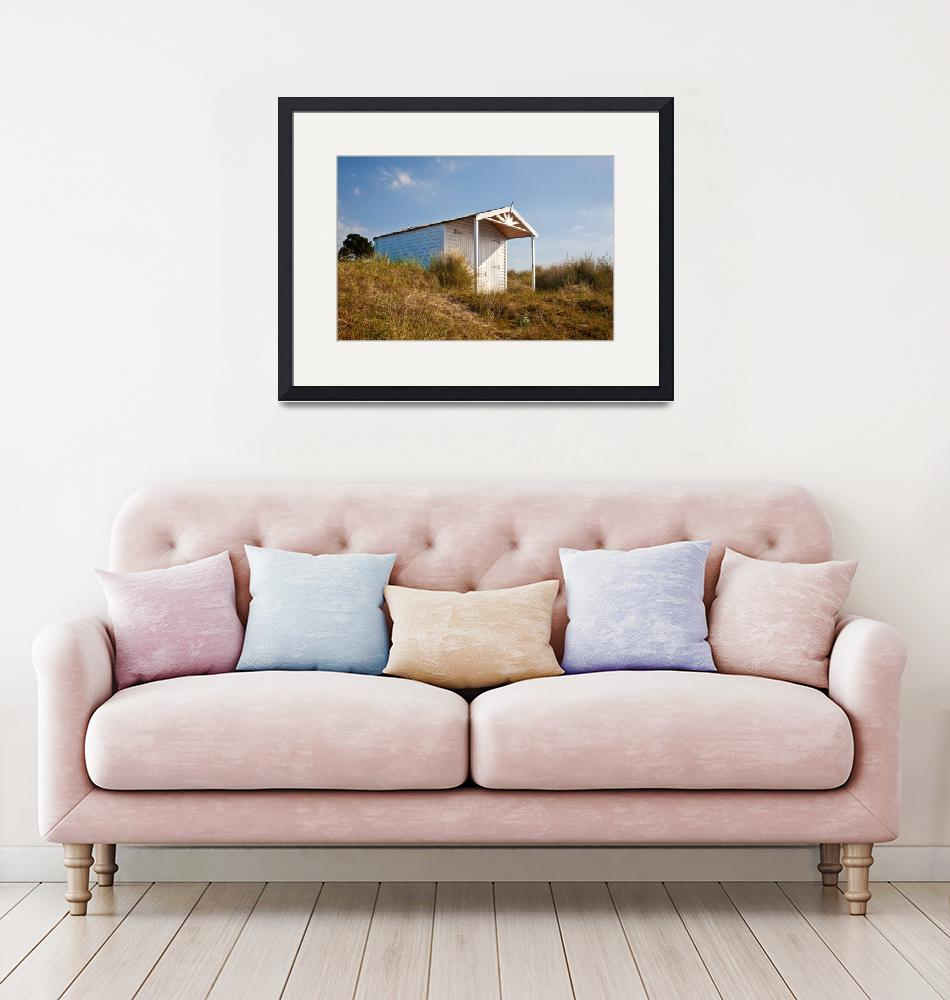 """""""A beach hut in the Marram Grass at Old Hunstanton""""  (2010) by JohnEdwards"""