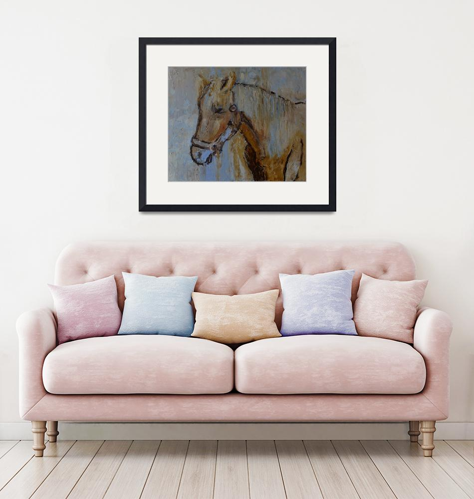 """""""Horse painting modern artwork""""  (2018) by Maggy"""