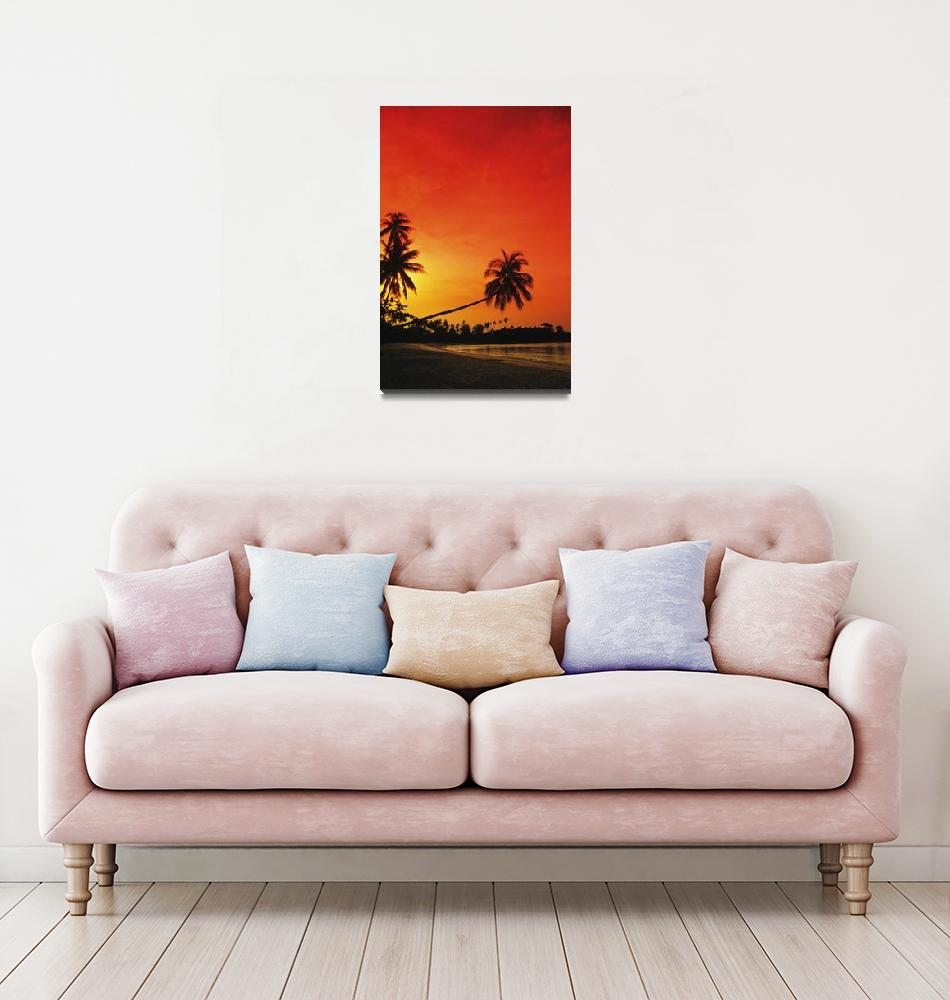 """Indonesia, Bintan Island Resort, Beach At Sunset""  by DesignPics"