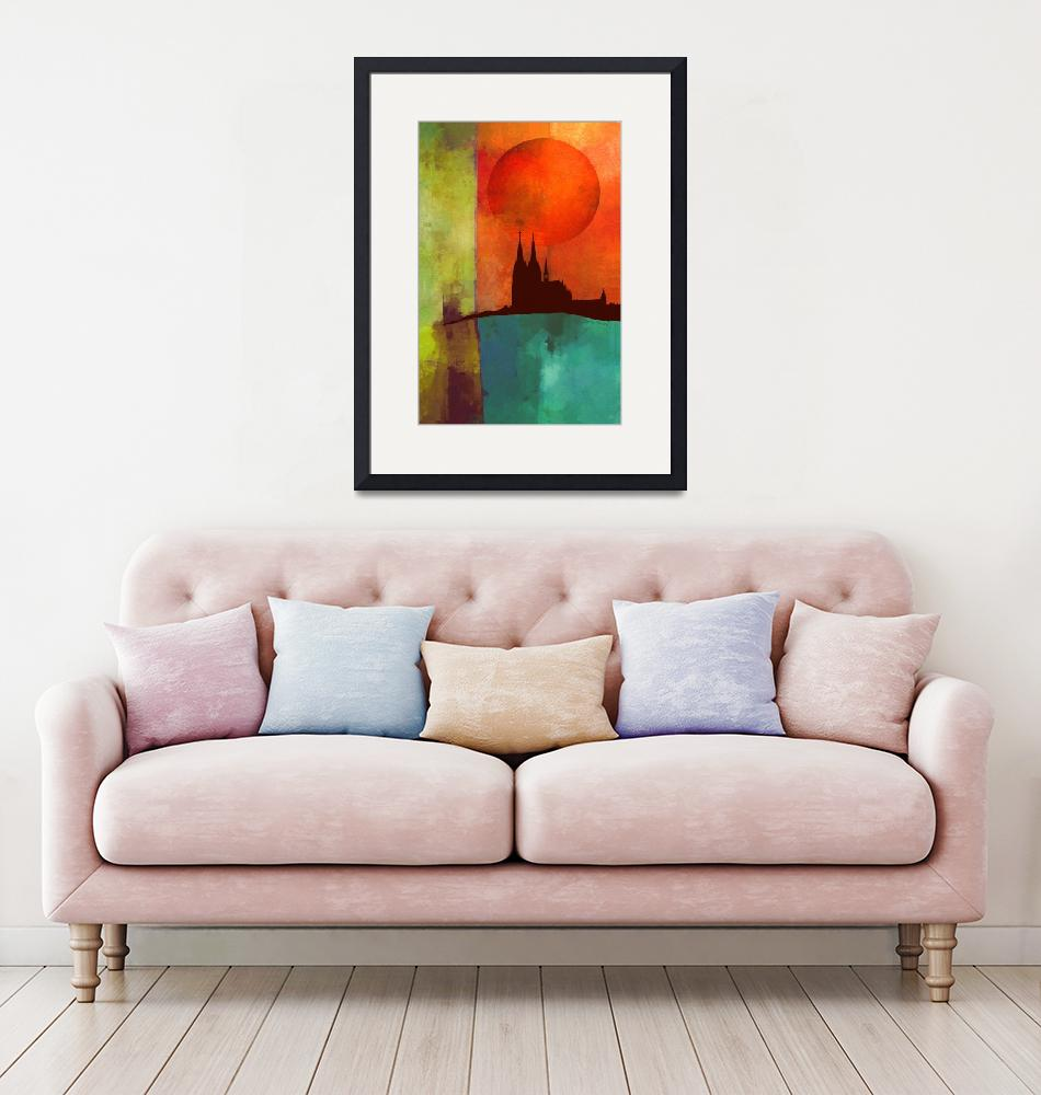 """""""Cathedral - color block abstract""""  (2018) by jerrybacik"""