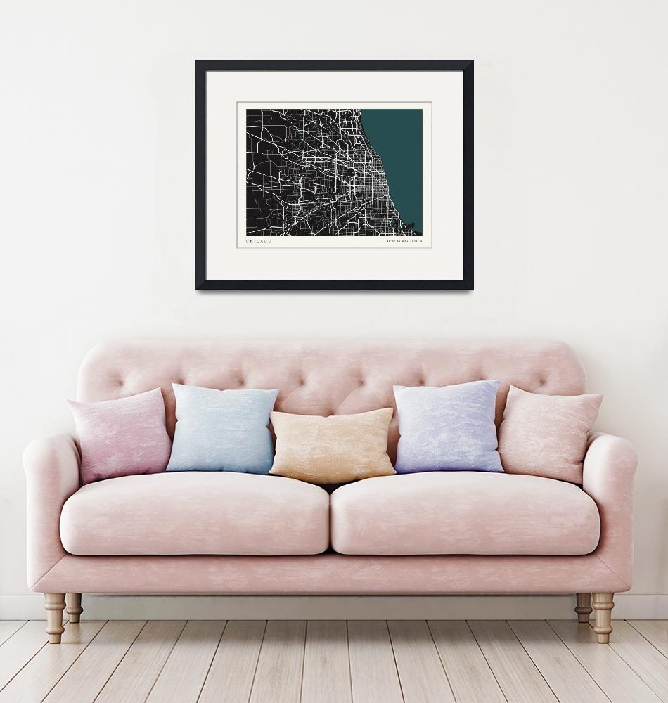 """""""City of Chicago Map""""  by mark-rogan"""