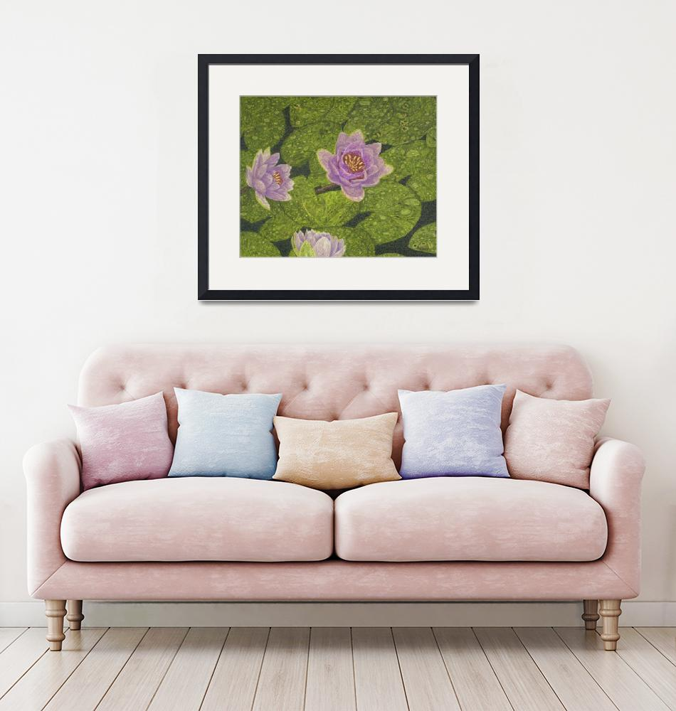 """Fine Art Prints Water Lilies Wall Art Lily Lotus""  by BasleeTroutman"