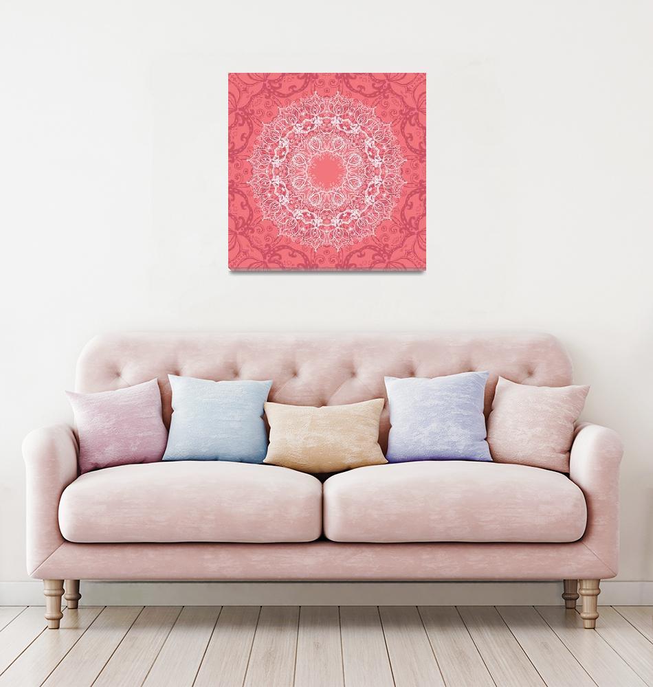 """Mandala. Indian decorative Ornament""  by katyau"