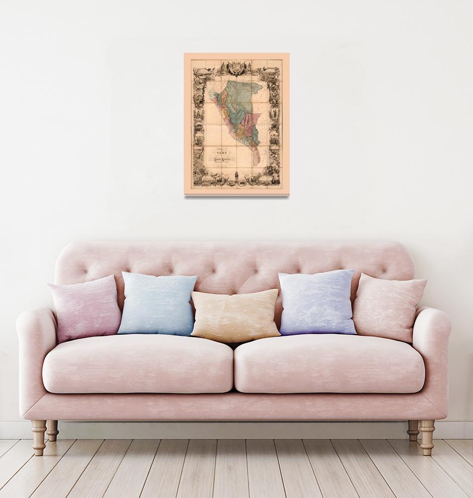 """""""Mapa del Peru (1862)""""  by ArtHistory"""