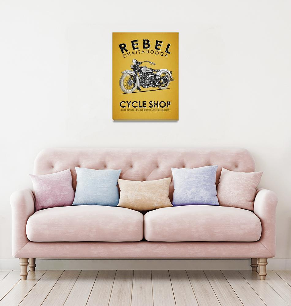 """""""The Rebel Cycle Shop""""  by mark-rogan"""